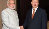 Prime Minister Narendra Modi with Chinese President Xi