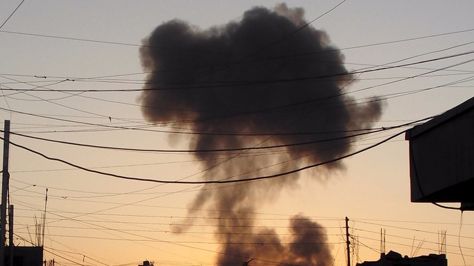 Cloud Of Smoke Over Ramadi