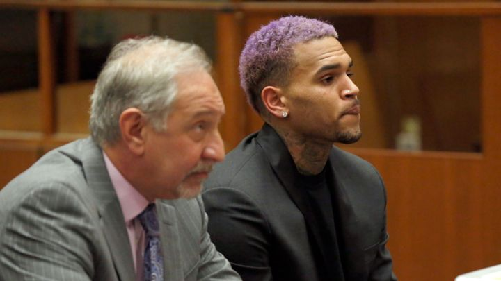 Chris Brown at Los Angeles Superior Court on March 20, 2015.